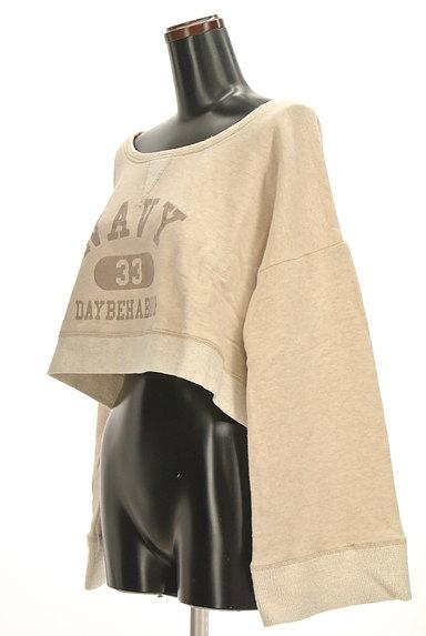 MOROKO BAR(モロコバー)の古着「コンパクトロゴスウェット(スウェット・パーカー)」大画像3へ
