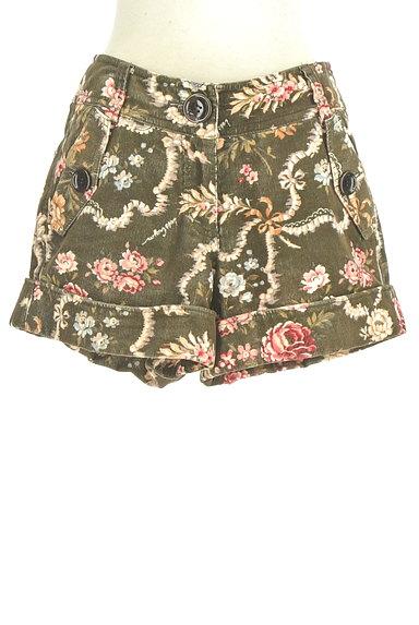 Lois CRAYON(ロイスクレヨン)の古着「コーデュロイ花柄ショートパンツ(ショートパンツ・ハーフパンツ)」大画像1へ