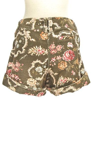 Lois CRAYON(ロイスクレヨン)の古着「コーデュロイ花柄ショートパンツ(ショートパンツ・ハーフパンツ)」大画像2へ