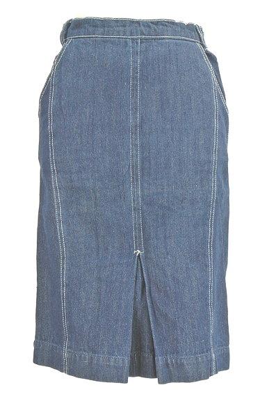 Avan Lily(アヴァンリリィ)の古着「セミタイトデニムひざ丈スカート(スカート)」大画像1へ
