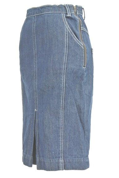 Avan Lily(アヴァンリリィ)の古着「セミタイトデニムひざ丈スカート(スカート)」大画像3へ