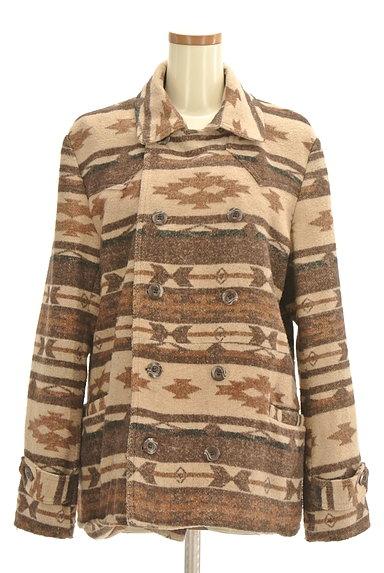 URBAN RESEARCH(アーバンリサーチ)の古着「オルテガ柄襟付きミドルコート(コート)」大画像1へ
