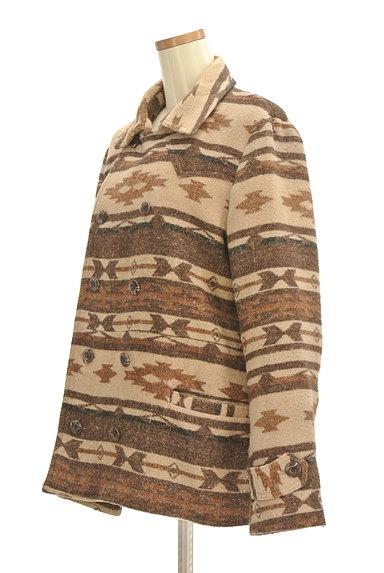 URBAN RESEARCH(アーバンリサーチ)の古着「オルテガ柄襟付きミドルコート(コート)」大画像3へ