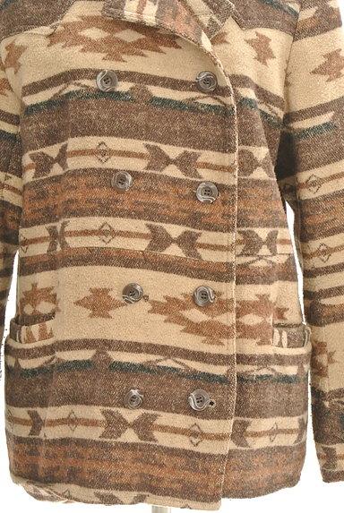 URBAN RESEARCH(アーバンリサーチ)の古着「オルテガ柄襟付きミドルコート(コート)」大画像5へ