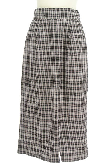 Khaju(カージュ)の古着「チェック柄スリットタイトスカート(ロングスカート・マキシスカート)」大画像1へ