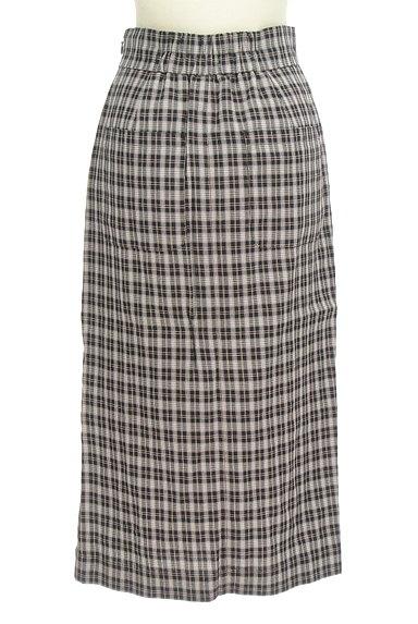Khaju(カージュ)の古着「チェック柄スリットタイトスカート(ロングスカート・マキシスカート)」大画像2へ