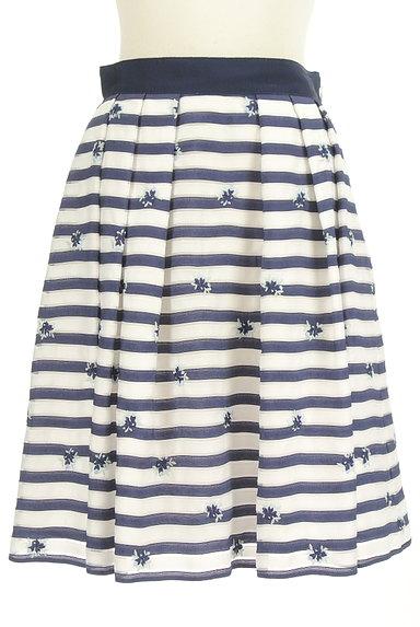 LAISSE PASSE(レッセパッセ)の古着「マリンボーダー小花刺繍スカート(スカート)」大画像1へ