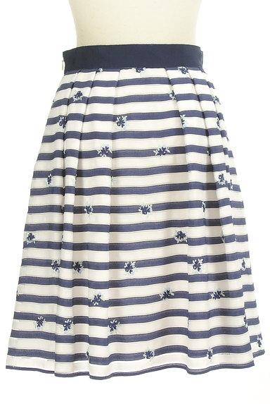 LAISSE PASSE(レッセパッセ)の古着「マリンボーダー小花刺繍スカート(スカート)」大画像2へ