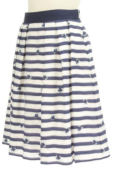 LAISSE PASSE(レッセパッセ)の古着「マリンボーダー小花刺繍スカート(スカート)」大画像3へ