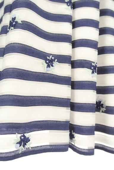 LAISSE PASSE(レッセパッセ)の古着「マリンボーダー小花刺繍スカート(スカート)」大画像5へ