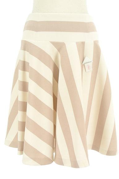 BEAMS Women's(ビームス ウーマン)の古着「膝丈ストライプ柄フレアスカート(スカート)」大画像4へ