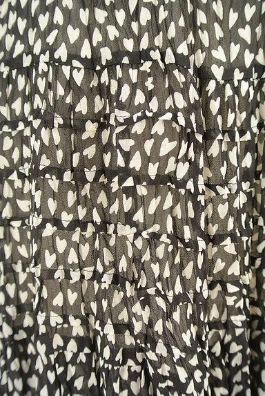 JUSGLITTY(ジャスグリッティー)の古着「ハート柄シアーフリルスカート(スカート)」大画像4へ