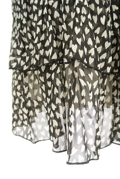 JUSGLITTY(ジャスグリッティー)の古着「ハート柄シアーフリルスカート(スカート)」大画像5へ