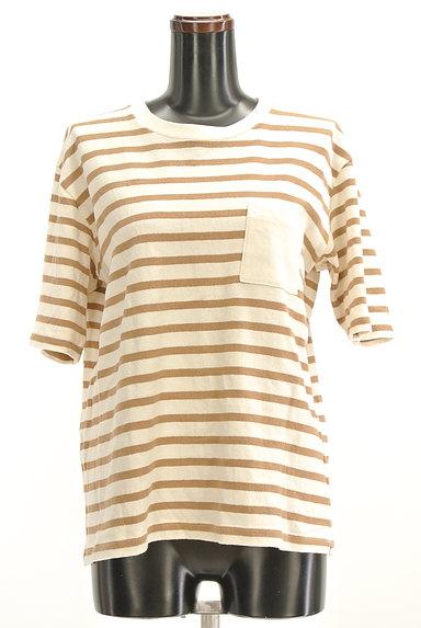 UNITED ARROWS(ユナイテッドアローズ)の古着「ポケット付ボーダーTシャツ(Tシャツ)」大画像1へ