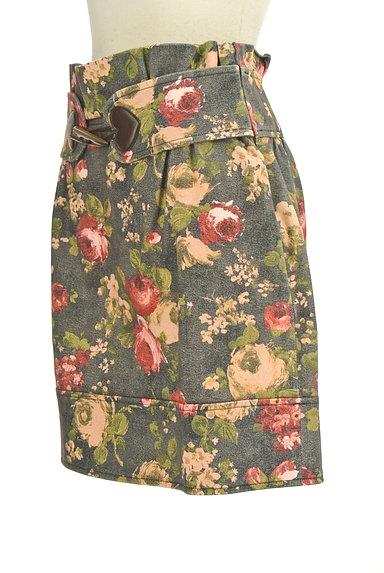 LOVE MOSCHINO(ラブモスキーノ)の古着「ハートベルト花柄ミニスカート(ミニスカート)」大画像3へ
