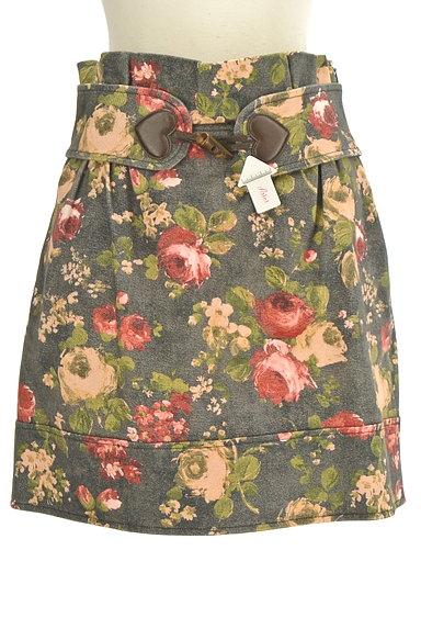 LOVE MOSCHINO(ラブモスキーノ)の古着「ハートベルト花柄ミニスカート(ミニスカート)」大画像4へ