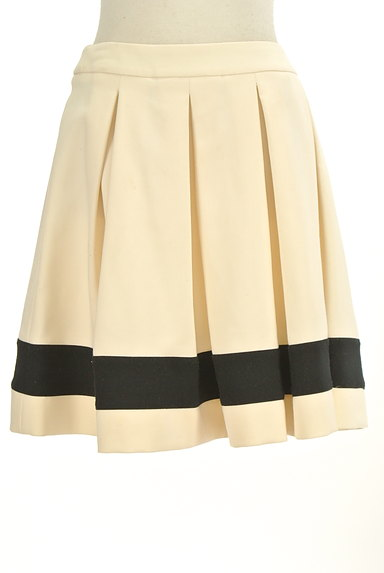 LOVE MOSCHINO(ラブモスキーノ)の古着「膝上丈裾ラインタックフレアスカート(ミニスカート)」大画像1へ