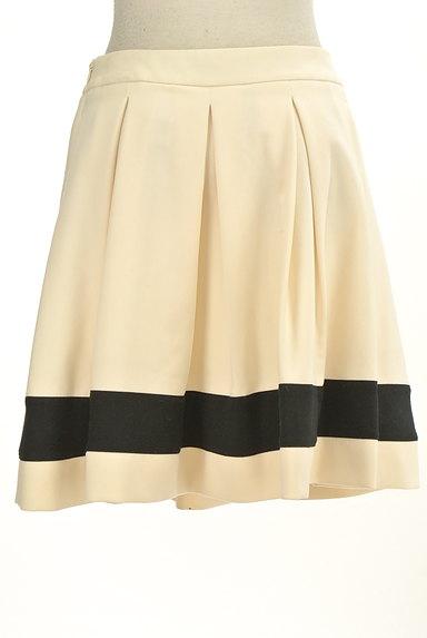 LOVE MOSCHINO(ラブモスキーノ)の古着「膝上丈裾ラインタックフレアスカート(ミニスカート)」大画像2へ