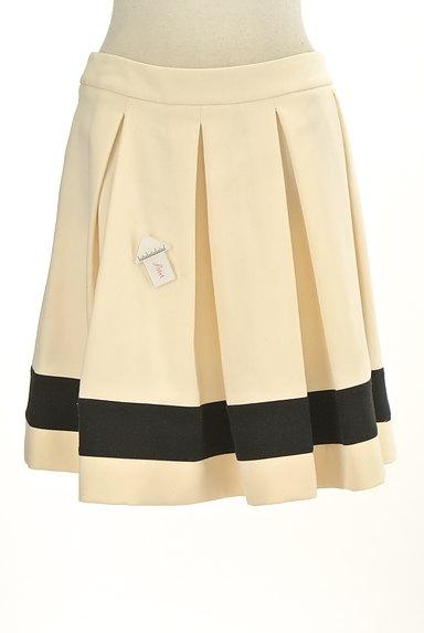 LOVE MOSCHINO(ラブモスキーノ)の古着「膝上丈裾ラインタックフレアスカート(ミニスカート)」大画像4へ