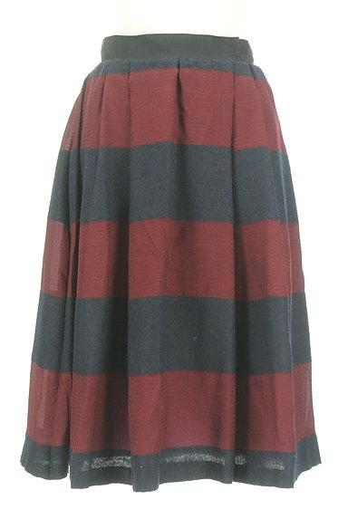 UNTITLED(アンタイトル)の古着「ミモレ丈ボーダーフレアスカート(スカート)」大画像1へ