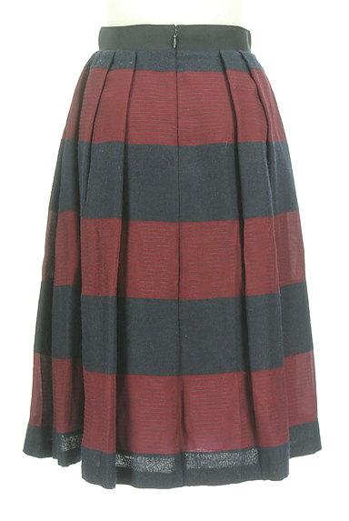 UNTITLED(アンタイトル)の古着「ミモレ丈ボーダーフレアスカート(スカート)」大画像2へ