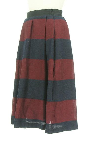 UNTITLED(アンタイトル)の古着「ミモレ丈ボーダーフレアスカート(スカート)」大画像3へ