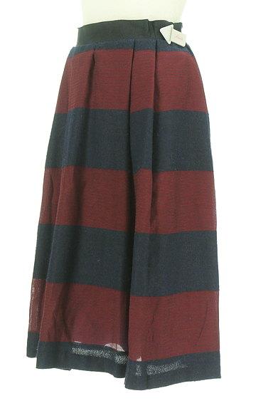 UNTITLED(アンタイトル)の古着「ミモレ丈ボーダーフレアスカート(スカート)」大画像4へ
