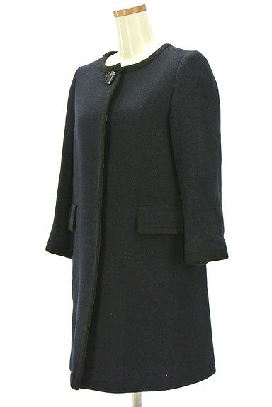 ROPE(ロペ)の古着「ノーカラー比翼ロングコート(コート)」大画像3へ