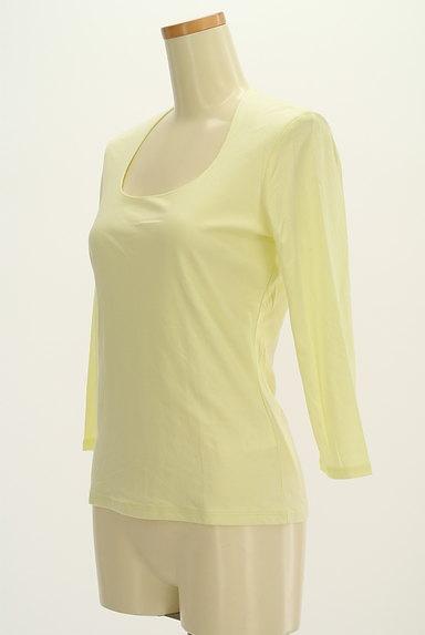 COUP DE CHANCE(クードシャンス)の古着「七分袖シンプルTシャツ(Tシャツ)」大画像3へ
