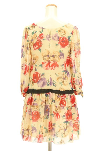 JILLSTUART(ジルスチュアート)の古着「花柄シフォンワンピース(ワンピース・チュニック)」大画像2へ