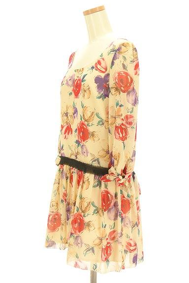 JILLSTUART(ジルスチュアート)の古着「花柄シフォンワンピース(ワンピース・チュニック)」大画像3へ