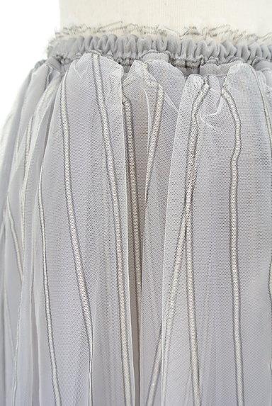 Snidel(スナイデル)の古着「ストライプ柄チュールスカート(スカート)」大画像4へ