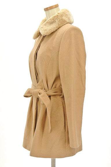 7-ID concept(セブンアイディーコンセプト)の古着「襟ファーミドル丈ウールコート(コート)」大画像3へ