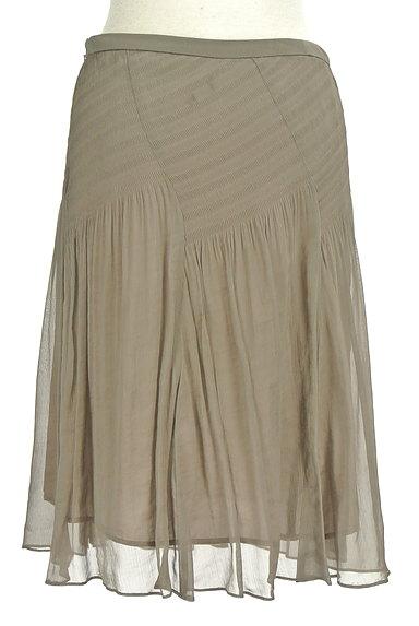 SunaUna(スーナウーナ)の古着「セミフレアギャザースカート(スカート)」大画像2へ