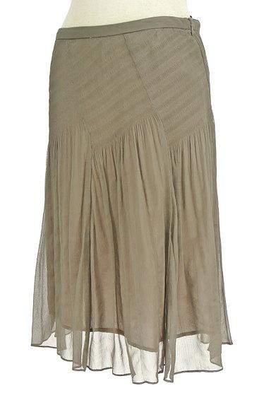 SunaUna(スーナウーナ)の古着「セミフレアギャザースカート(スカート)」大画像3へ