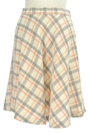 UNIVERVAL MUSE(ユニバーバルミューズ)の古着「チェック柄フレアウールスカート(ミニスカート)」大画像1へ
