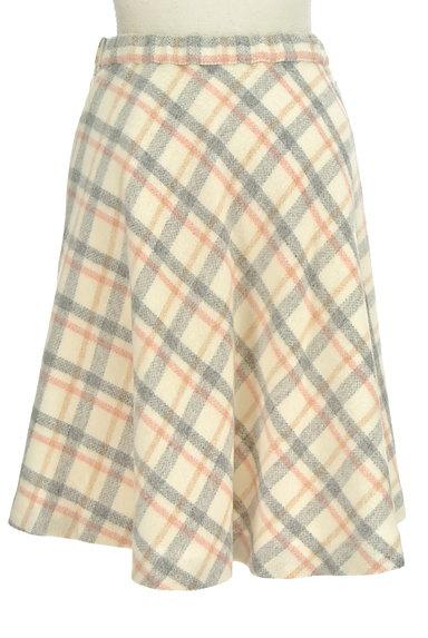 UNIVERVAL MUSE(ユニバーバルミューズ)の古着「チェック柄フレアウールスカート(ミニスカート)」大画像2へ