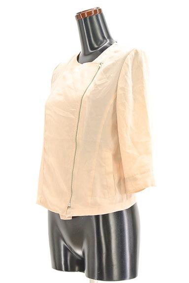 RESEXXY(リゼクシー)の古着「7分袖シフォンライダースジャケット(ブルゾン・スタジャン)」大画像3へ
