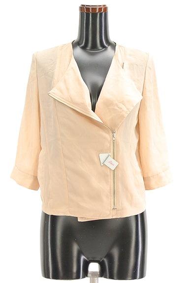 RESEXXY(リゼクシー)の古着「7分袖シフォンライダースジャケット(ブルゾン・スタジャン)」大画像4へ