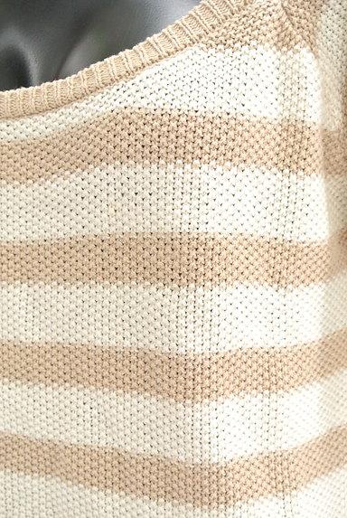 RESEXXY(リゼクシー)の古着「5分袖ボーダーニットソー(ニット)」大画像4へ