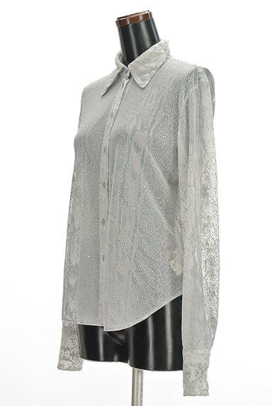 ITALIYA(伊太利屋)の古着「シアージャガードブラウス(ブラウス)」大画像3へ