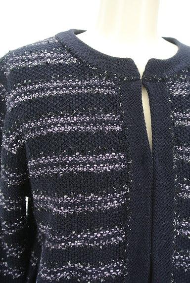 LAUTREAMONT(ロートレアモン)の古着「ラメ混ボーダーカーディガン(カーディガン・ボレロ)」大画像4へ
