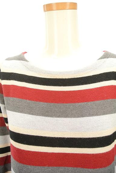 LOUNIE(ルーニィ)の古着「マルチボーダー7分袖ワンピ(ワンピース・チュニック)」大画像4へ