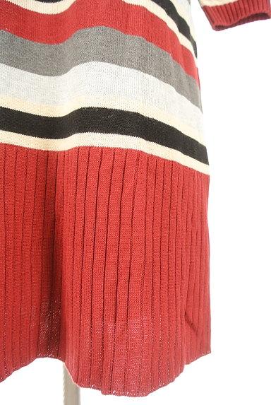 LOUNIE(ルーニィ)の古着「マルチボーダー7分袖ワンピ(ワンピース・チュニック)」大画像5へ
