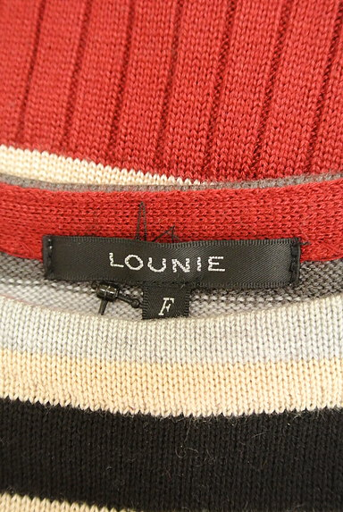 LOUNIE(ルーニィ)の古着「マルチボーダー7分袖ワンピ(ワンピース・チュニック)」大画像6へ