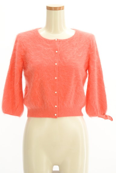 Lois CRAYON(ロイスクレヨン)の古着「リボン付き7分袖カーディガン(カーディガン・ボレロ)」大画像1へ