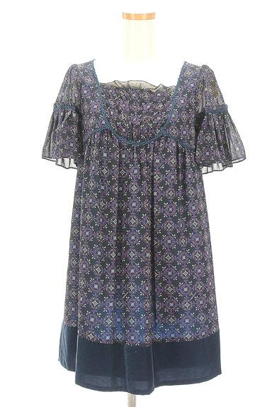 Lois CRAYON(ロイスクレヨン)の古着「フリルシフォンワンピース(ワンピース・チュニック)」大画像1へ