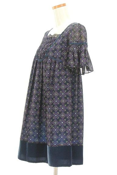 Lois CRAYON(ロイスクレヨン)の古着「フリルシフォンワンピース(ワンピース・チュニック)」大画像3へ