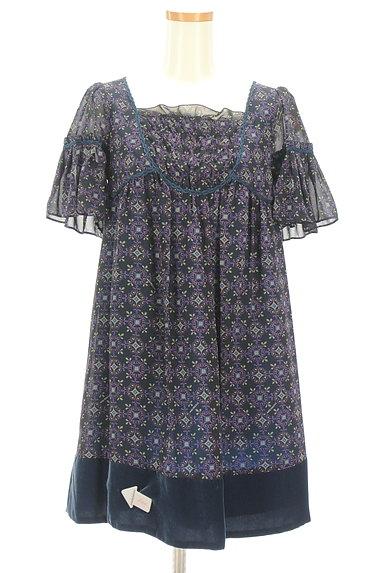 Lois CRAYON(ロイスクレヨン)の古着「フリルシフォンワンピース(ワンピース・チュニック)」大画像4へ