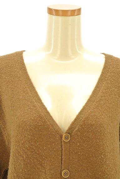CUBE SUGAR(キューブシュガー)の古着「キャメルロングカーディガン(カーディガン・ボレロ)」大画像5へ